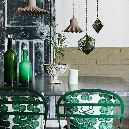 Green-dining-area