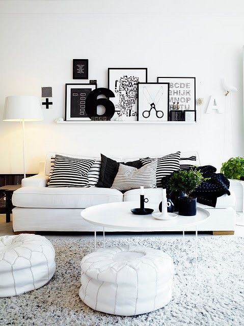 black and white lounge
