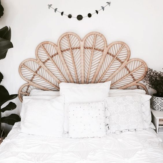 A statement headboard makes for a fantastic focal point in bedrooms. According to Elle Decoration's March edition, statement headboards are a huge trend this season. Here's a bit of inspo for you.