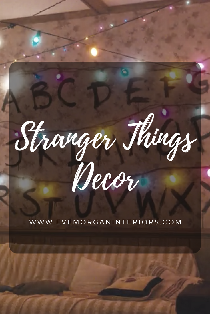 Stranger Things Decor. To celebrate Stranger Things winningBest Ensemble in a Drama Series at the Screen Actors Guild Awards (SAG) this week, I thought I'd put a post together about the set design and decor used in the first series.