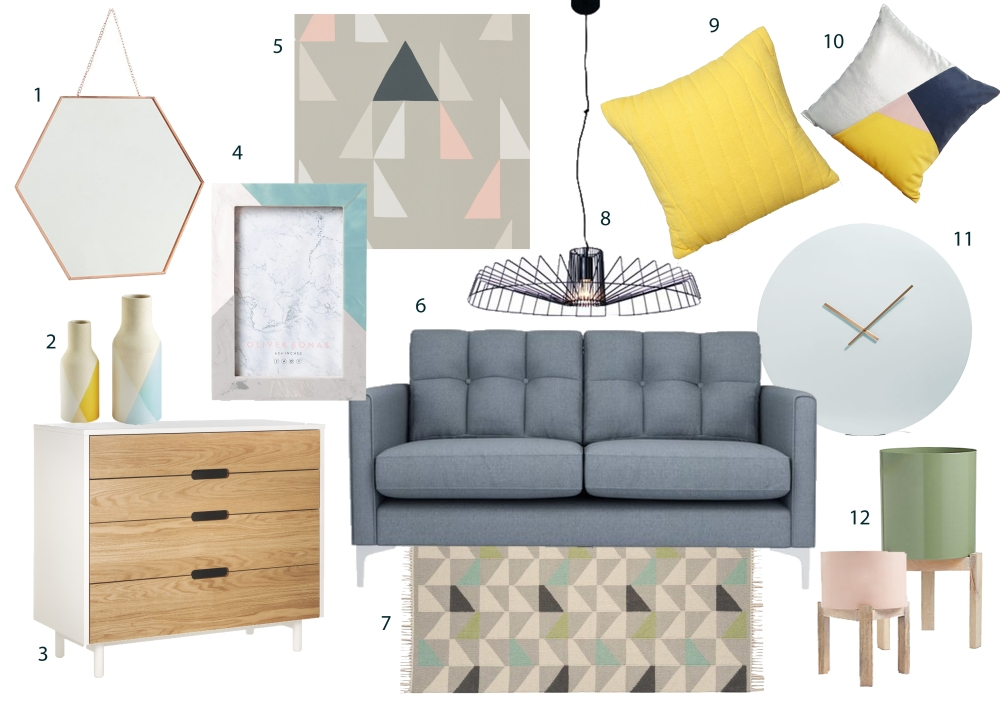 The scandi look is being updated this season, with mid century styles, metallic touches and darker grey accents making an appearance.  This versatile trend will create a fresh, contemporary feel in any room. Its slim proportions suit small spaces as well as large. Bare floors are key to this trend, add a rug for a touch of warmth.