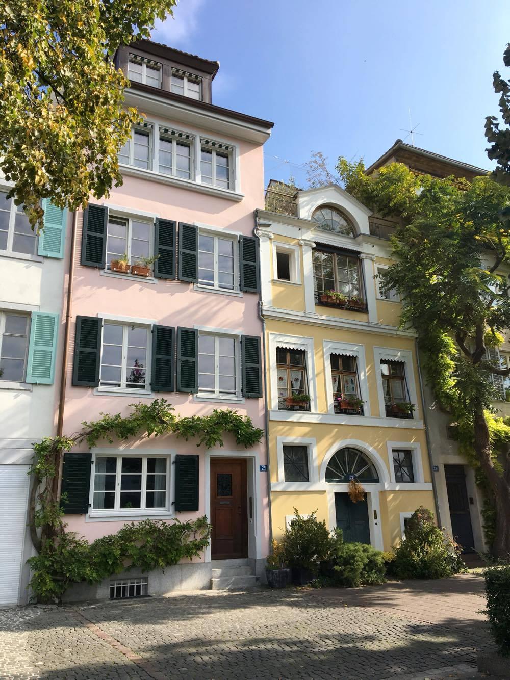 Basel pastel houses