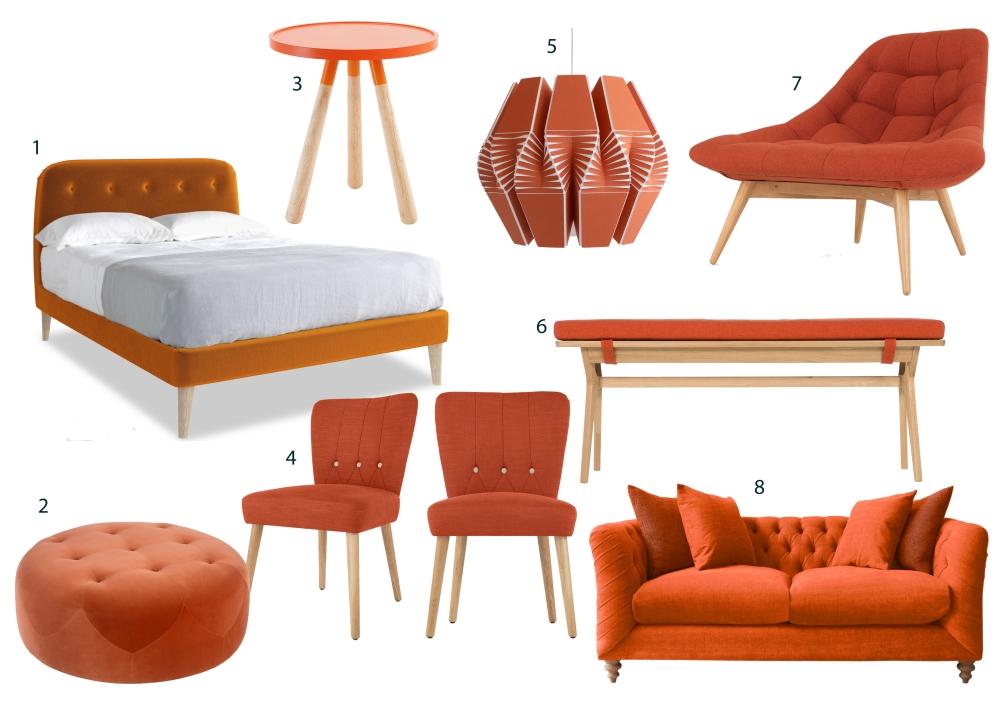Burnt Orange Furniture